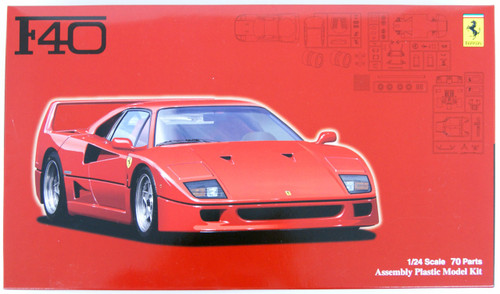 Fujimi RS-103 Ferrari F40 1/24 Scale Kit
