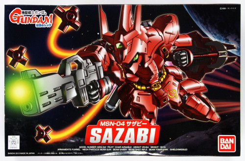 Bandai SD BB 382 Gundam MSN-04 SAZABI Plastic Model Kit
