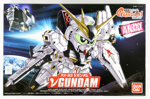 Bandai SD BB 387 Gundam RX-93 V (Nu) Gundam Plastic Model Kit