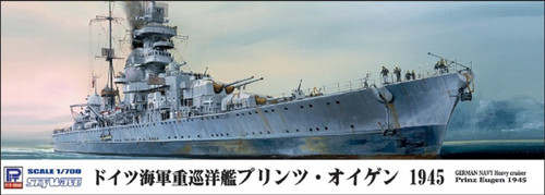 Pit-Road Skywave W-154 German Navy Heavy Cruiser Prinz Eugen 1945 1/700 Scale Kit
