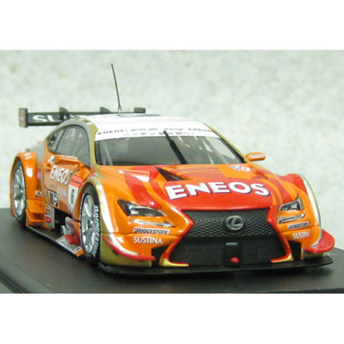 Ebbro 45067 ENEOS SUSTINA RC F SGT 500 2014 No.6 Orange 1/43 Scale