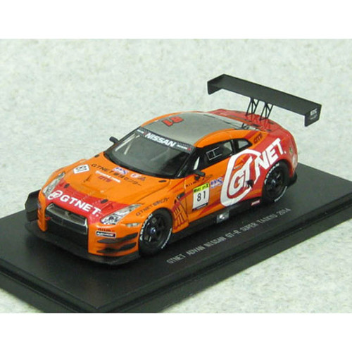 Ebbro 45314 GTNET ADVAN NISSAN GT-R SUPER TAIKYU 2014 No.81 Orange 1/43 Scale