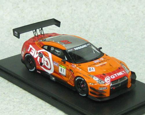 Ebbro 45314 GTNET ADVAN NISSAN GT-R SUPER TAIKYU 2014 No.81 Orange 1/43 Scale