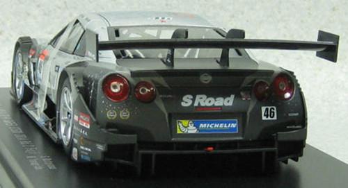 Ebbro 81018 S Road MOLA GT-R SGT 500 2014 Rd.2 Fuji No.46 Silver 1/18 Scale