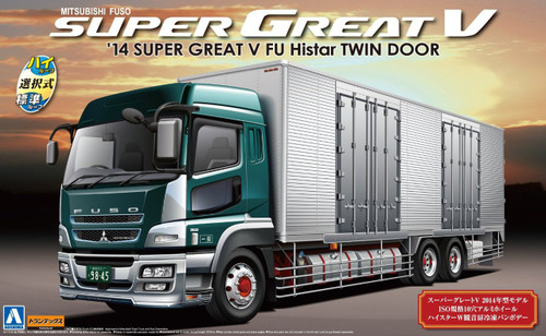 Aoshima 51221 Mitsubishi Fuso Super Great V 2014 FU Histar Twin Door 1/32 Scale Kit