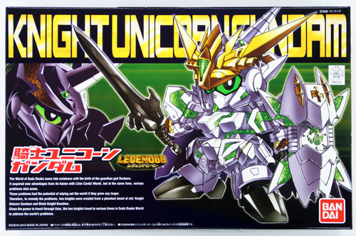 Bandai SD BB 385 Gundam Knight Unicorn Gundam Plastic Model Kit