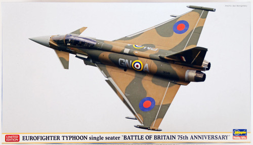 Hasegawa 02173 Eurofighter Typhoon Single Seater Battle of Britain 75th Avviversary 1/72 Scale Kit