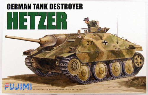 Fujimi WA03 World Armor German Tank Destroyer Hetzer 1/76 Scale Kit