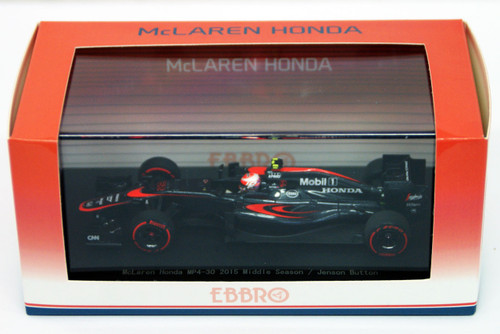 Ebbro 45327 McLaren Honda MP4-30 2015 Middle Season/Jenson Button 1/43 Scale