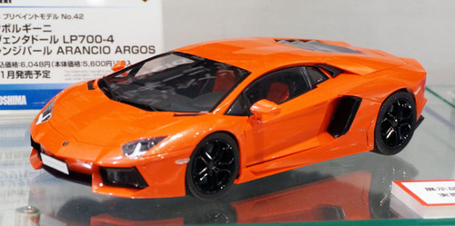 Aoshima 11386 Lamborghini Aventador LP700-4 (Orange Pearl) 1/24 Scale Kit (Pre-painted Model)