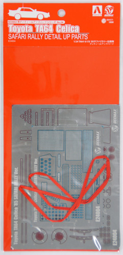 Aoshima 84571 Toyota Celica TA64 1985 Safari Rally Photo Etched Parts 1/24 Scale