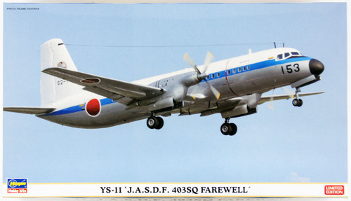 Hasegawa 10815 YS-11 JASDF 403SQ Farewell (Limited) 2 planes 1/144 Scale Kit