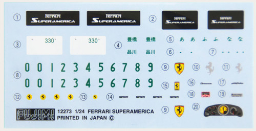 Fujimi RS-111 Ferrari Super America 1/24 Scale Kit