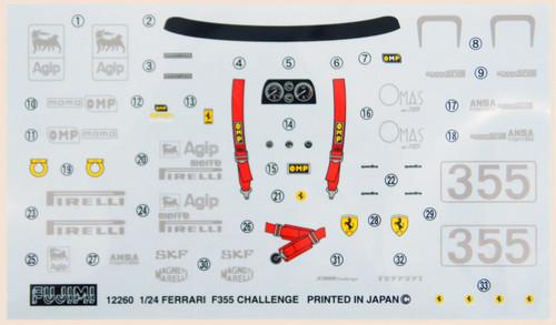 Fujimi RS-112 Ferrari F355 Challenge 1/24 Scale Kit