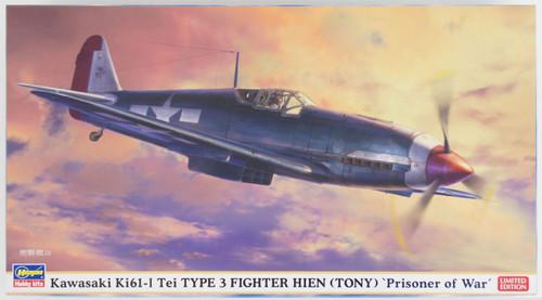 Hasegawa 07420 Kawasaki Ki61-I Tei Type 3 Fighter Hien (Tony) PrisOner of War 1/48 Scale Kit