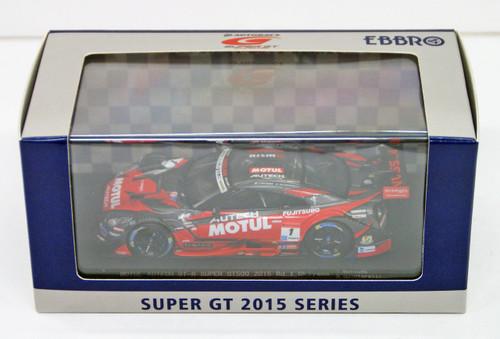 Ebbro 45260 MOTUL AUTECH GT-R SUPER GT500 2015 Rd.1 Okayama No.1 Red 1/43 Scale