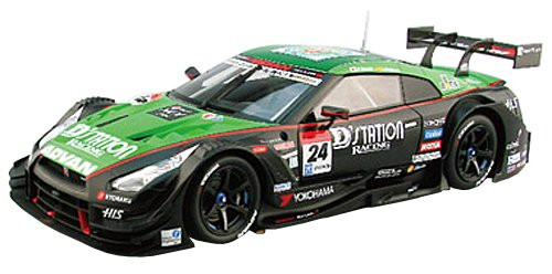 Ebbro 81025 Dstation Advan GT-R SUPER GT500 Rd.1 OKAYAMA No.24 Blue 1/18 Scale