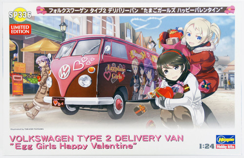 Hasegawa SP336 Volkswagen Type2 Delivery Van Egg Plane Girls Happy Valentine 1/24 Scale Kit