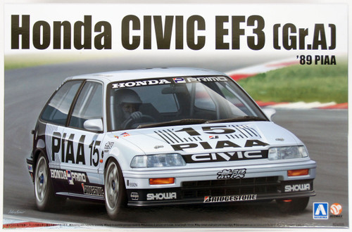 Aoshima 84588 Honda Civic EF3 Gr. A 1989 PIAA 1/24 Scale Kit