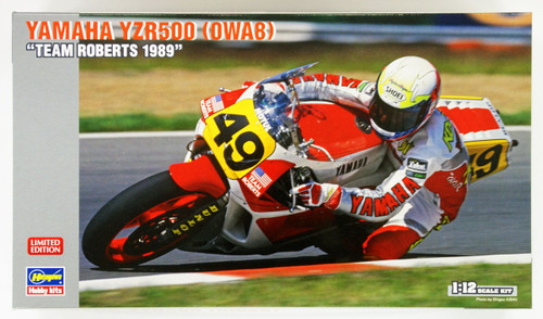 Hasegawa 21716 Yamaha YZR500 (0WA8) Team Roberts 1989 1/12 Scale Kit (Limited Edition)