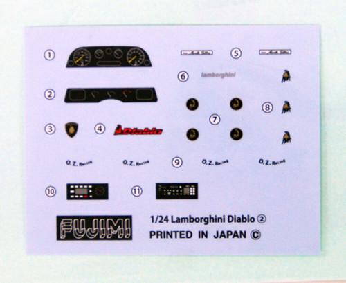 Fujimi RS-67 Lamborghini Diablo / Diablo 4WD 1/24 Scale Convertible Kit 126418