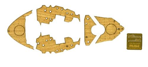 Fujimi 114736 Gup No.4 Wood Deck Sticker for Chibi-maru Battle Ship Kongo