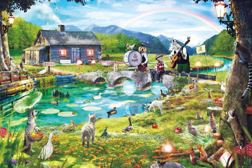 Epoch Jigsaw Puzzle 11-548 Satoshi Kusuda Illustration Animals (1000 Pieces)