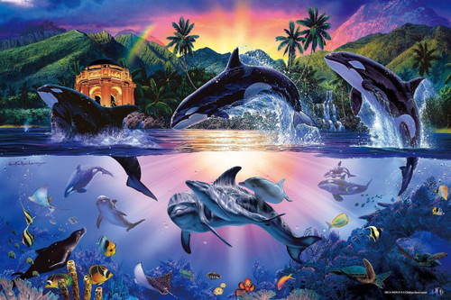 Epoch Jigsaw Puzzle 13-015 Lassen Orca World 2 (1000 Pieces)