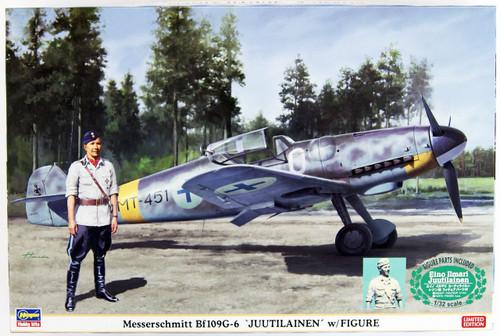 Hasegawa 08242 Messerschmitt Bf109G-6 Juutilainen w/ Figure 1/32 Scale Kit