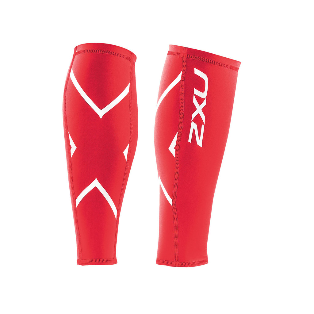 2XU PWX Compression Calf Guard - Red