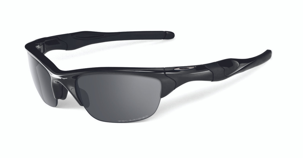 Oakley Polarised Half Jacket 2.0 Polished Black Frame and Black iridium lens.