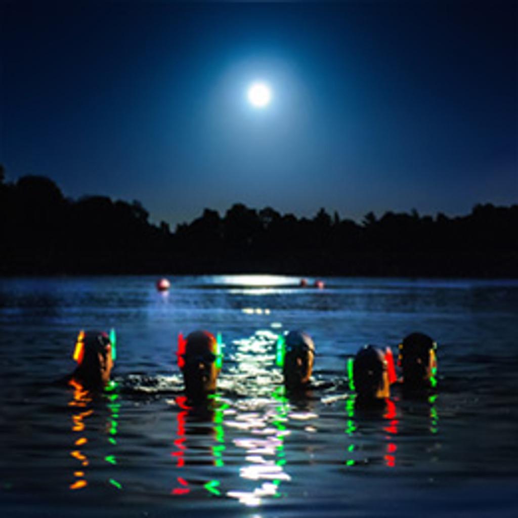 Pennington Flash Glow / Night Swim - MyOpenWaterSwim 2018 - Children