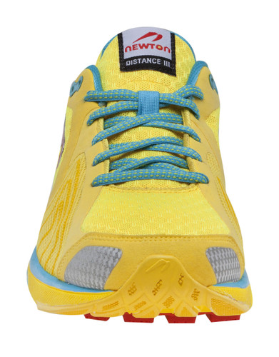 Newton Women's Distance III - Yellow / Red  UK 4 Only