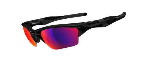 Oakley Sports Performance Half Jacket 2.0 XL Sunglasses - Polished Black Frame - OO Red Iridium Polarised Lens  OO9154-27