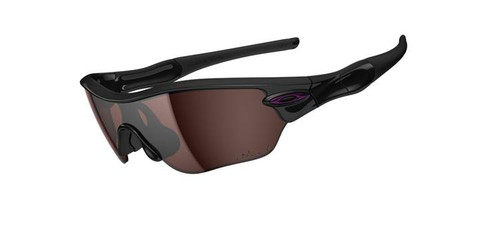 Oakley Sports Performance Sunglasses - Radar Edge with a Polished Black Frame and OO Grey Polarized Lens - OO9184-04