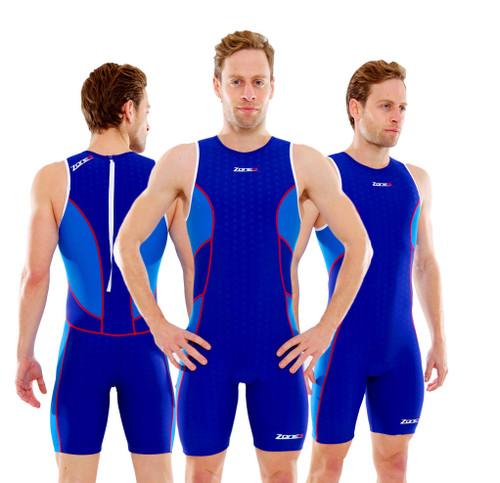 Zone3 - Men's Aquaflo Rear Zip Trisuit - S & L Only