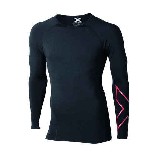 2XU - Thermal Compression L/S Top - Men's - Black/ Red