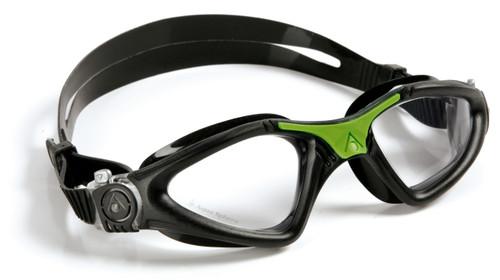 Aqua Sphere - Kayenne Goggle - Black/Green - Clear