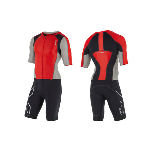 2XU - Men's Compression Full Zip Sleeved Trisuit - Small Only