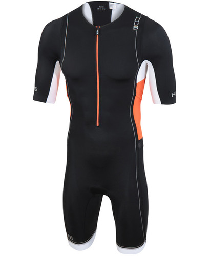 HUUB - Men's Core Long Course Sleeved Trisuit - Black/Orange