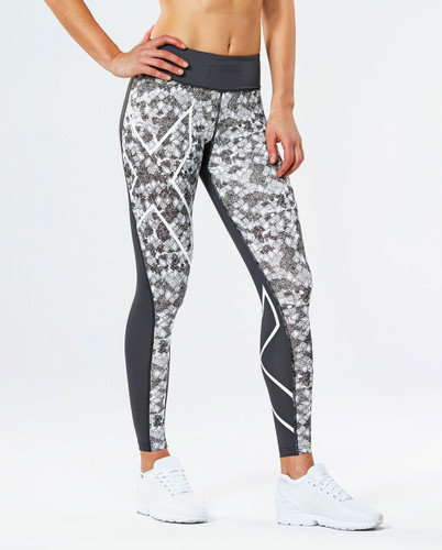 2XU - Pattern Mid-Rise Comp Tights - Women's
