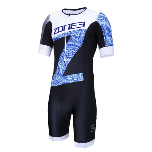 Zone3 - Men's Lava Long Distance Aero Short Sleeve Trisuit - Kona Edition