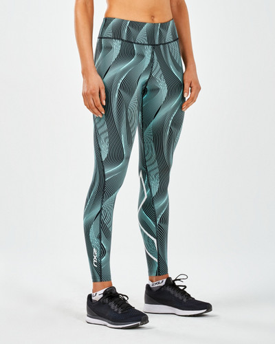 2XU - Women's Mid-Rise Print Tights with Storage - 2018
