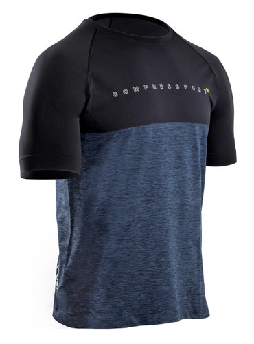 Compressport - TRAINING TSHIRT - BLACK EDITION 10