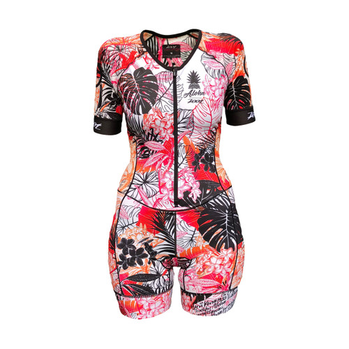 Zoot - LTD Tri Aero Short Sleeve Race Suit - Ali'i - Women's - 2018