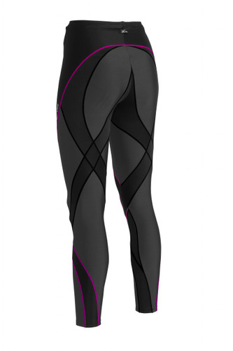 CW-X Womens Pro Tights - Black and Black/Raspberry