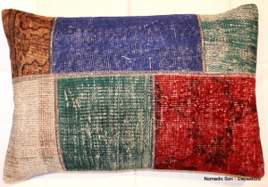 Overdyed patchwork cushion (45*68cm) OD47