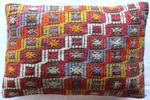 Vintage kilim cover - large rectangle (40*60cm) #KR16