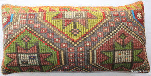 Vintage kilim cover rectangle (40*80cm) #LR7
