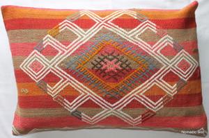 Vintage kilim cover rectangle (40*60cm) #KR108